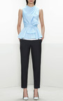 Prabal Gurung - Leather-Inset Cropped Pants