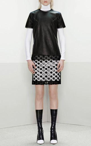 Prabal Gurung - Point D'Esprit Appliquéd Pencil Skirt