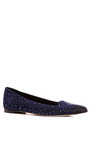 Smoking Crystal-Embellished Suede Flats by Sergio Rossi Now Available on Moda Operandi
