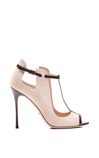 Sergio Rossi - Emperor Leather-Trimmed Suede Pumps