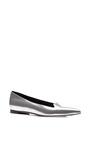Godiva Metallic Leather Flats by Sergio Rossi Now Available on Moda Operandi