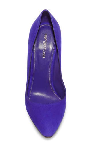 Chichi Suede Pumps by Sergio Rossi Now Available on Moda Operandi