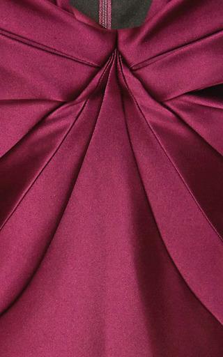 Cape-Effect Duchess Satin Dress by Zac Posen Now Available on Moda Operandi