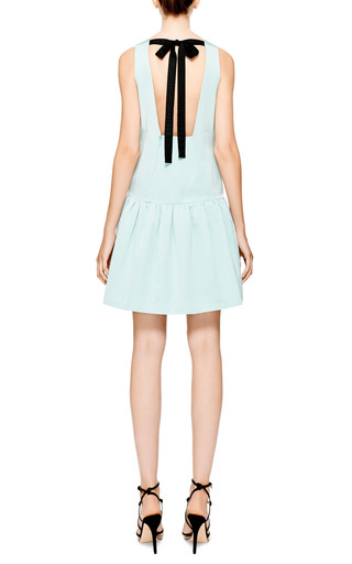 Tibi - Katia Exposed-Back Faille Dress