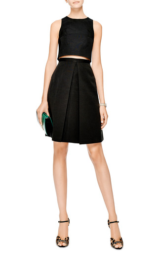 Katia Pleated Faille Skirt by Tibi Now Available on Moda Operandi