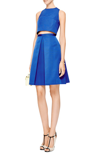 Tibi - Katia Pleated Faille Skirt