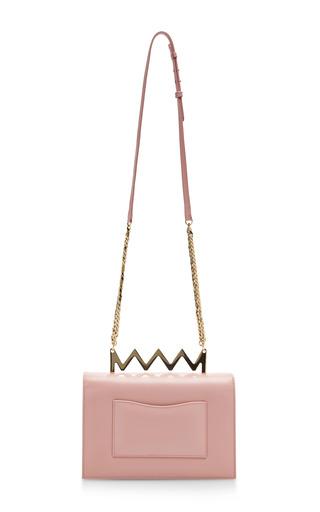Sylvia Leather Shoulder Bag by Sara Battaglia Now Available on Moda Operandi