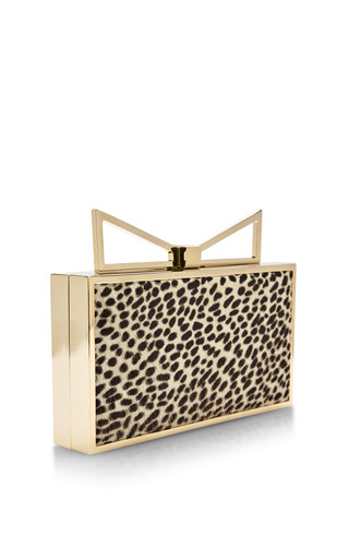 Lady Me Leopard-Print Calf-Hair Clutch by Sara Battaglia Now Available on Moda Operandi