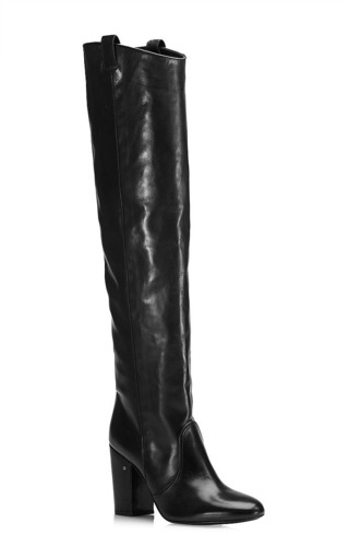 Silas knee-high leather boots in black by LAURENCE DACADE Now Available on Moda Operandi