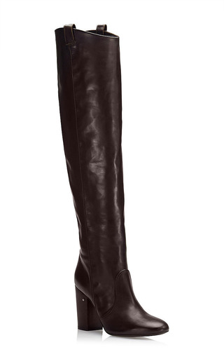 Silas knee-high leather boots in brown by LAURENCE DACADE Now Available on Moda Operandi