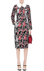 Mink-Collared Jacquard Coat by Thom Browne Now Available on Moda Operandi