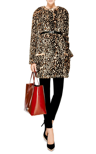 Printed Faux-Fur Coat by Nina Ricci Now Available on Moda Operandi