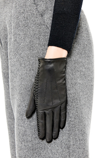 Laced-Detail Leather Gloves by Nina Ricci Now Available on Moda Operandi