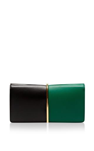 Nina Ricci - Arc Large Two-Tone Leather Clutch