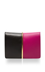 Arc Small Two-Tone Leather Clutch by Nina Ricci Now Available on Moda Operandi