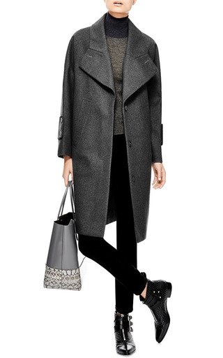 Oversized Felted-Wool Coat by Carven Now Available on Moda Operandi