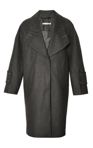 Carven - Oversized Felted-Wool Coat