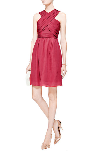 Cross-Front Textured Silk-Blend Dress by Carven Now Available on Moda Operandi