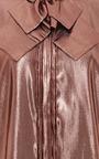 Bow-Detail Lamé Blouse by Rochas for Preorder on Moda Operandi
