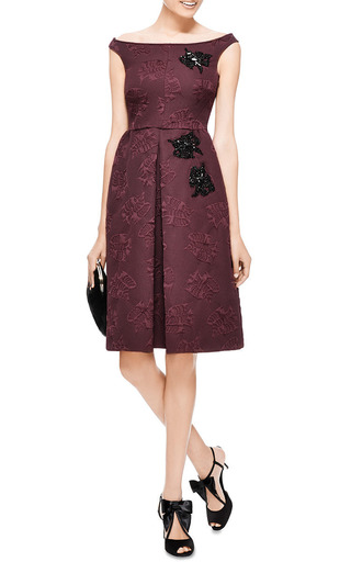 Rochas - Embellished Jacquard Dress