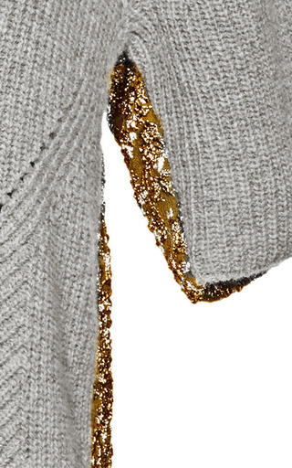 Rochas - Wool-Blend and Metallic-Jacquard Sweater