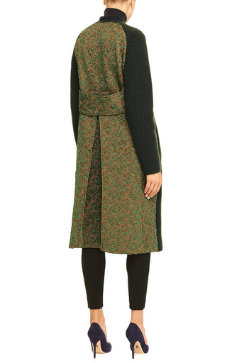 Rochas - Long Wool-Blend and Metallic-Jacquard Cardigan