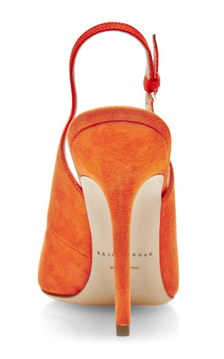 Liu Suede Slingback Pumps by BRIAN ATWOOD Now Available on Moda Operandi