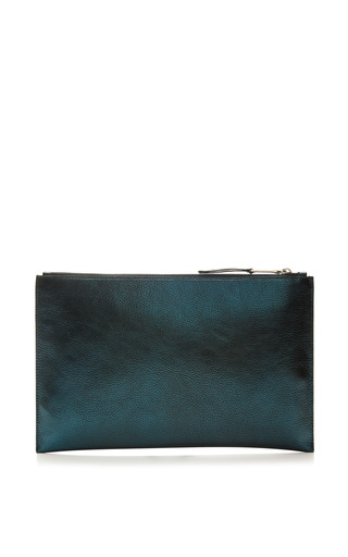 Leti Metallic Leather Clutch by Rochas Now Available on Moda Operandi