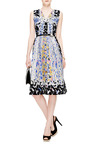 RH Printed Cloqué V-Neck Dress by Peter Pilotto Now Available on Moda Operandi