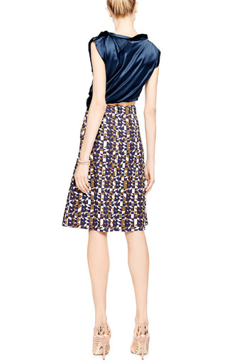 Olivia Printed Crepe-Jersey Skirt by Peter Pilotto Now Available on Moda Operandi