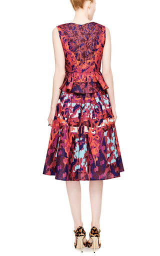 RH Printed Cloqué Peplum Top by Peter Pilotto Now Available on Moda Operandi