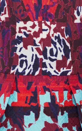 RH Printed Cloqué Peplum Top by Peter Pilotto Now Available on Moda Operandi