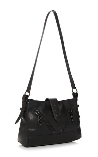 Kenzo - Zipper-Detail Leather Shoulder Bag