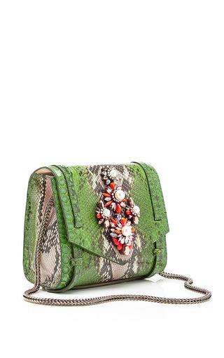 Daktari Crystal-Embellished Python Bag by Shourouk Now Available on Moda Operandi