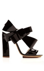 DELPOZO - Patent-Leather Bow-Detail Sandals