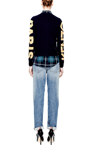 Intarsia-Knit Wool Cardigan by Kenzo Now Available on Moda Operandi