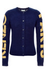 Intarsia Knit Wool Cardigan by KENZO Now Available on Moda Operandi