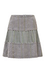 Printed Silk and Jacquard Mini Skirt by Kenzo Now Available on Moda Operandi