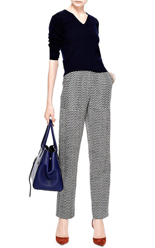 Printed Silk and Jacquard Wide-Leg Pants by Kenzo Now Available on Moda Operandi