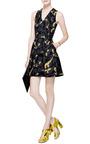 Printed Silk-Twill V-Neck Dress by Kenzo Now Available on Moda Operandi