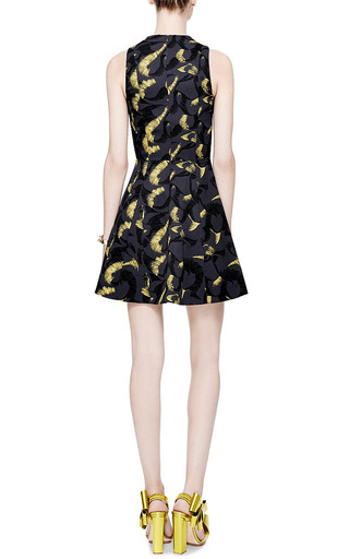 Printed Silk-Twill V-Neck Dress by Kenzo Now Available on Moda Operandi