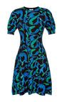 Printed Wool-Jersey Knit Dress by Kenzo Now Available on Moda Operandi