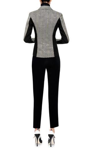 Rib-Knit Inset Jacquard Blazer by Kenzo Now Available on Moda Operandi