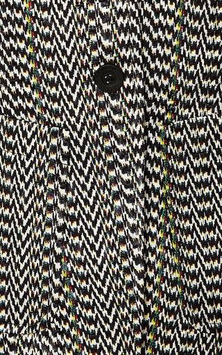 Kenzo - Rib-Knit Inset Jacquard Blazer