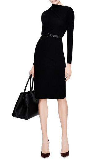 J.W. Anderson - Draped Shoulder Knit-Jersey Dress