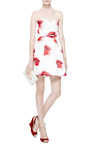 Pleated Printed Duchesse Satin Dress by MSGM Now Available on Moda Operandi