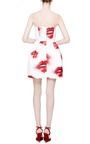 MSGM - Pleated Printed Duchesse Satin Dress