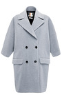 Textured Wool-Blend Coat by MSGM Now Available on Moda Operandi