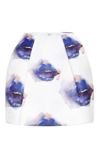 Printed Duchesse Satin Mini Skirt by MSGM for Preorder on Moda Operandi
