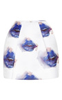 Printed Duchesse Satin Mini Skirt by MSGM Now Available on Moda Operandi